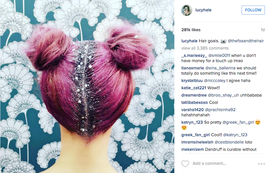 Glitter Roots Is the Most Magical Hair Trend for Dry Shampoo Devotees