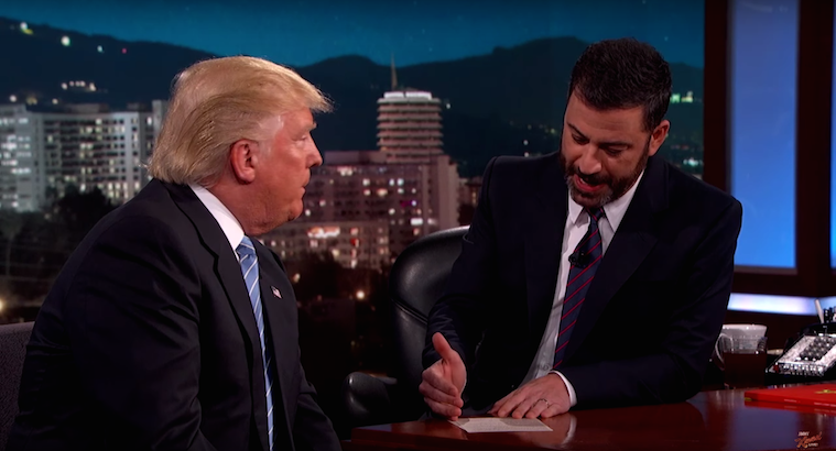 "Jimmy Kimmel Calls Donald Trump Out For Being ""Full of Shit"""