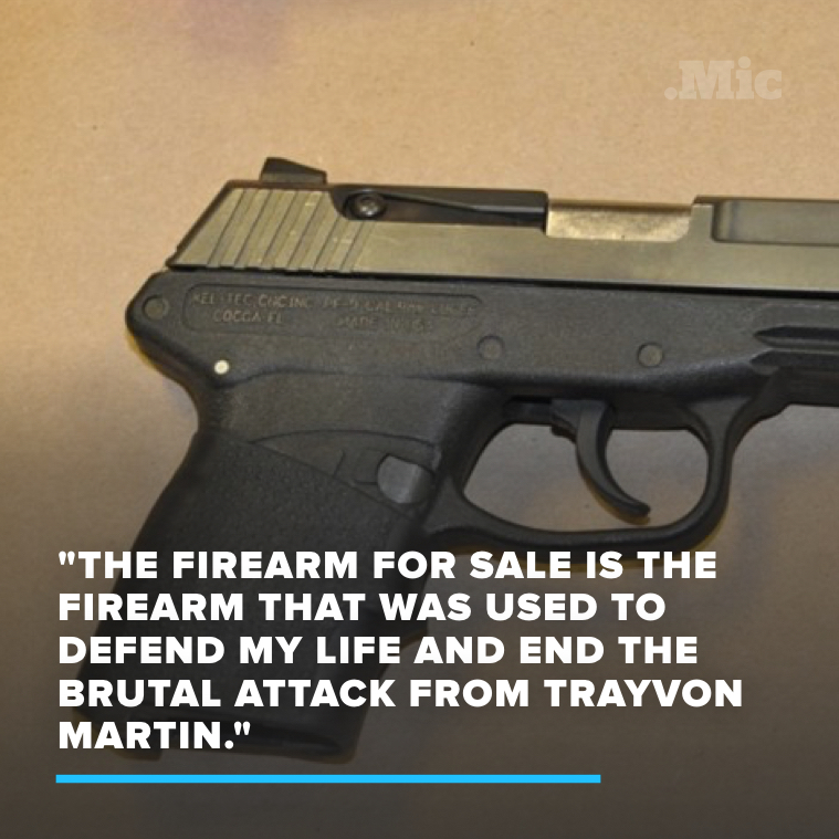 George Zimmerman Tried to Auction Off the Gun He Used to Kill Trayvon Martin