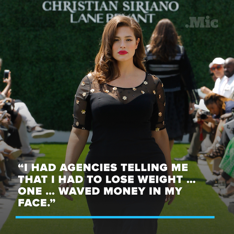 "Ashley Graham Had $20 Bills Waved in Her Face by Agent Telling Her to ""Lose More Pounds"""