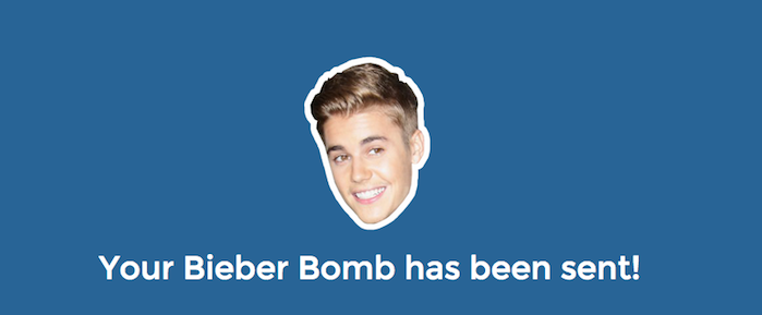 Bieber Bomb: Here's How to Send Justin Bieber Lyrics to Your Friends Anonymously