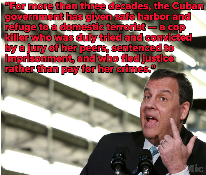 Chris Christie Still Can't Keep His #HandsOffAssata 32 Years After Her Escape to Cuba