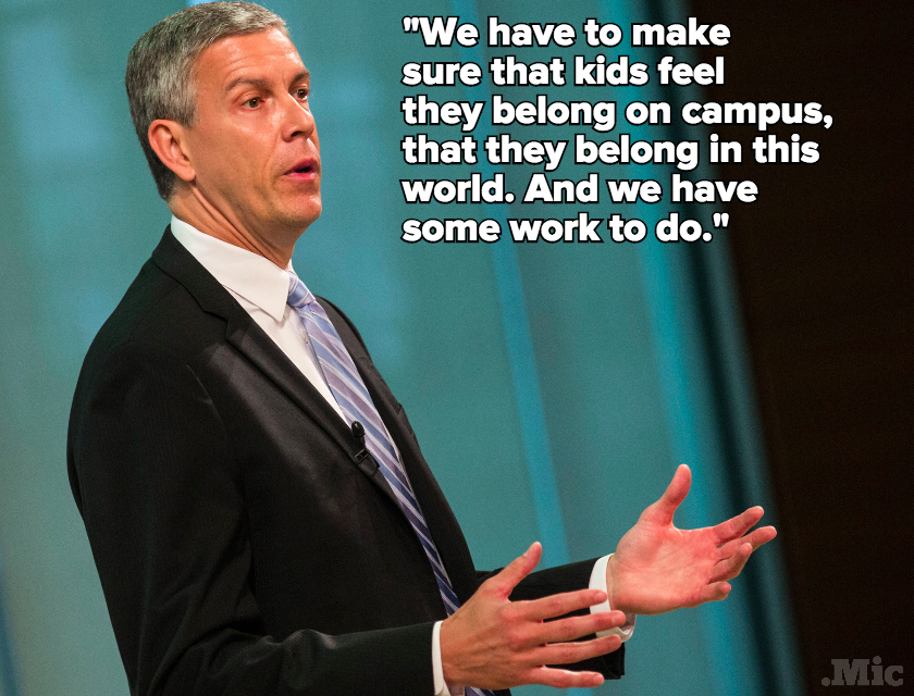 "Arne Duncan on Racism on Campus: ""We're Struggling. We're Trying to Figure It Out"""