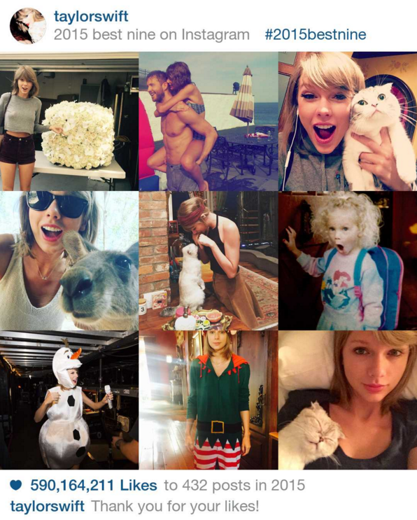 Taylor Swift's Best Instagram Posts of 2015 — Starring Cats and Calvin Harris
