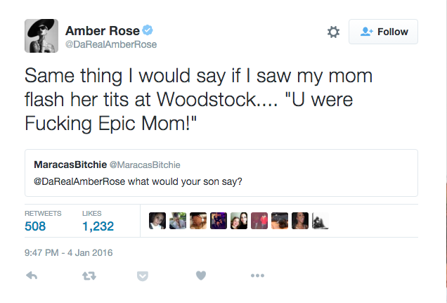 Amber Rose Had an Epic Clapback to a Tweet About Going Topless to Coachella