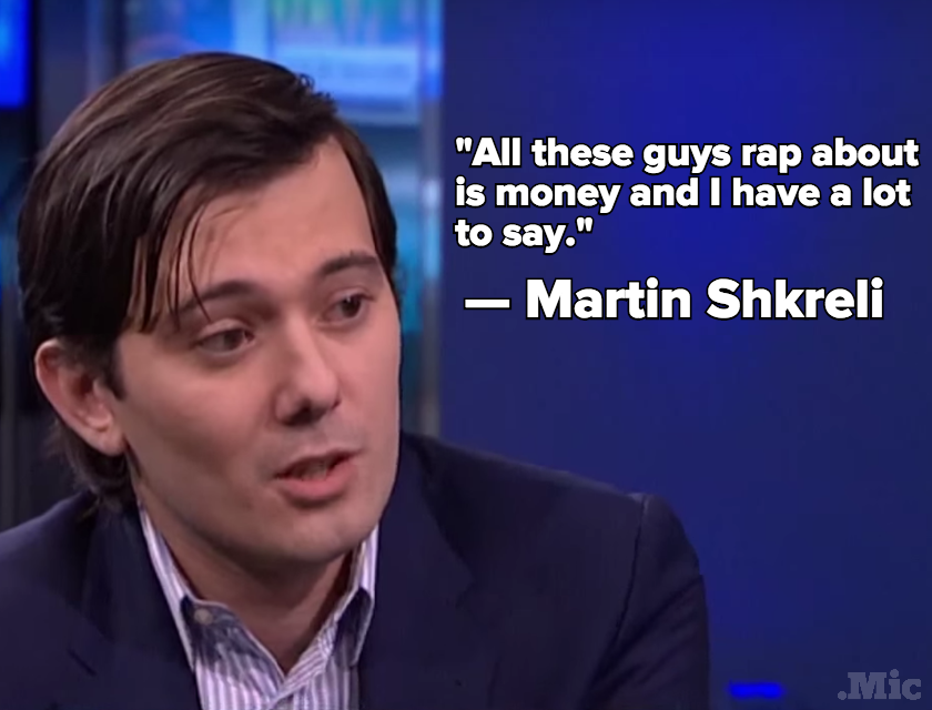 Martin Shkreli Wants to Get Into the Rap Game