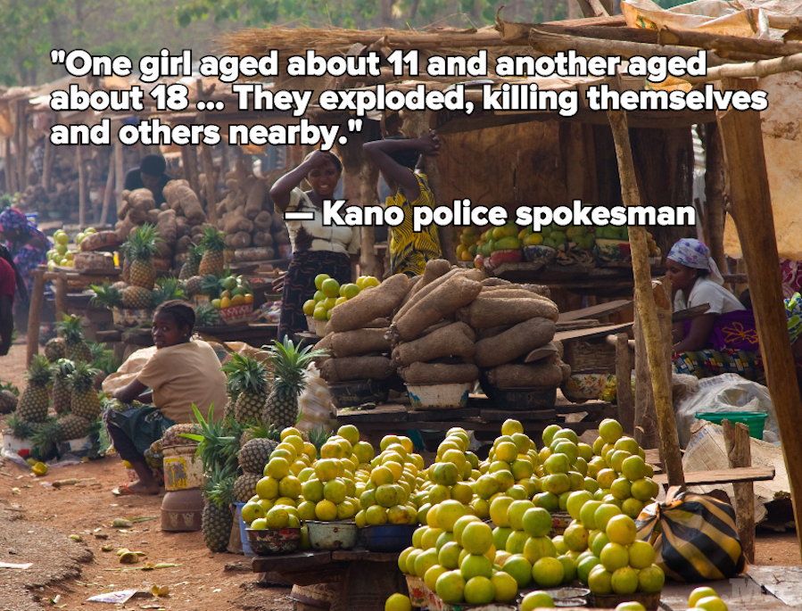"Boko Haram Suicide Bombs Kill 15 in Nigeria, 1 Bomber Was a ""Girl Aged About 11"""