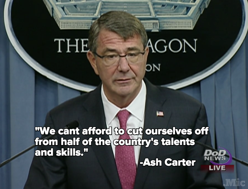 US Defense Secretary Ash Carter Just Made History by Opening All Combat Jobs to Women