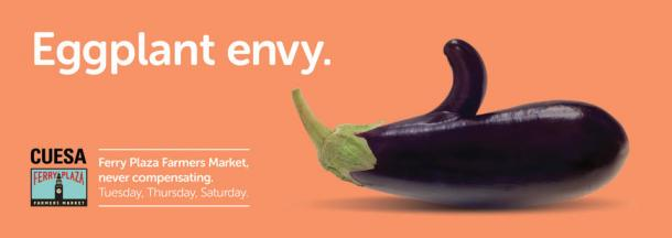 This Penis-Shaped Eggplant Is the Star of a Brilliant Farmers Market Ad Campaign