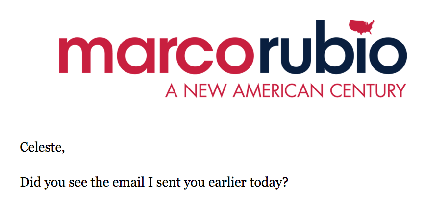 Marco Rubio's Fundraising Emails Are Thirstier Than He Is