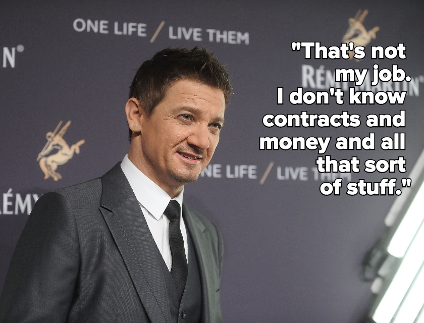 Jeremy Renner Says It's Not His Job to Negotiate With Female Co-Stars for Equal Pay