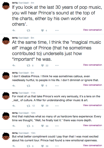 This Series of Tweets Perfectly Illustrates What Prince Meant to His Fans