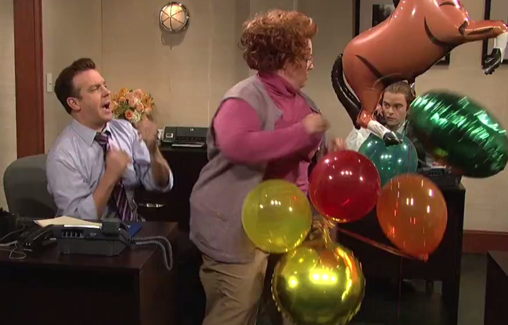 snl skit office flirt Saturday night live: the final skit is about a man who uses a toilet in his office that's disguised as a lamp.