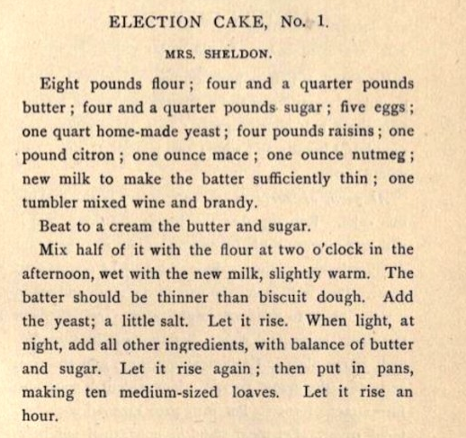 "Before women could vote, they baked ""Election Cakes"" to entice men to the polls"