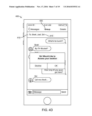 New Apple patent shows Siri butting into your text chats