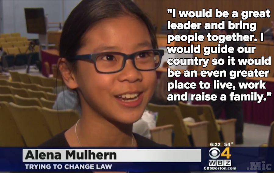 This 10-Year-Old Girl Is Taking on the US Constitution Because She Wants to Be President