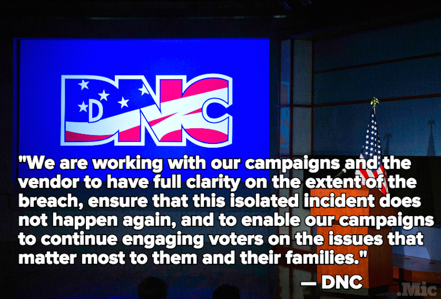 Bernie Sanders Campaign Denied Access to DNC Voter Database After Clinton Data Breach