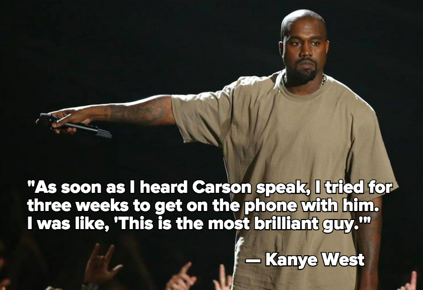"Kanye West Admires 2016 Republican Candidate Ben Carson as ""The Most Brilliant Guy"""