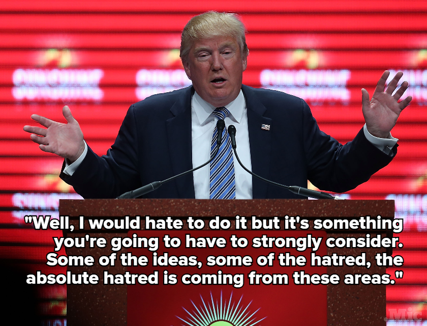 "Donald Trump Would ""Strongly Consider"" Shutting Down Mosques After Paris Attacks"