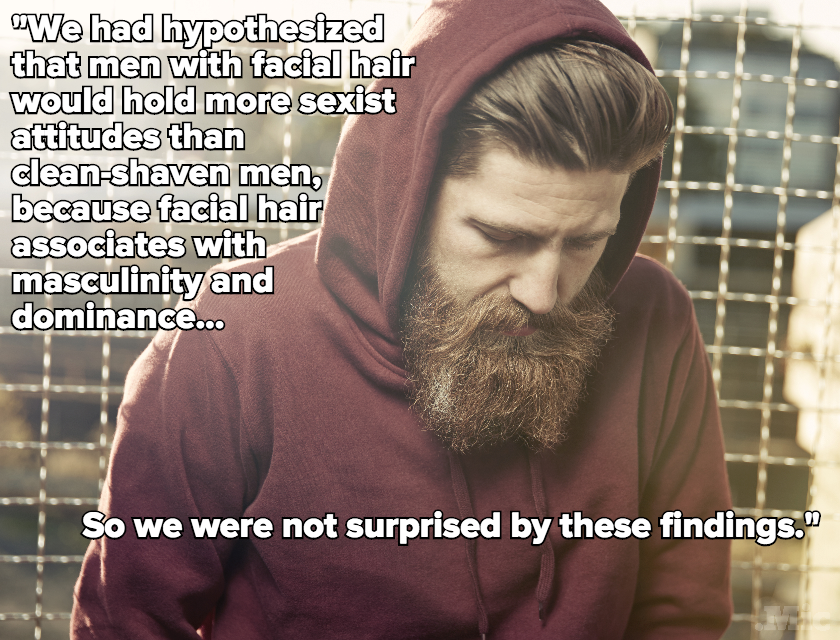 Study Suggests Guys With Beards Might Be More Sexist