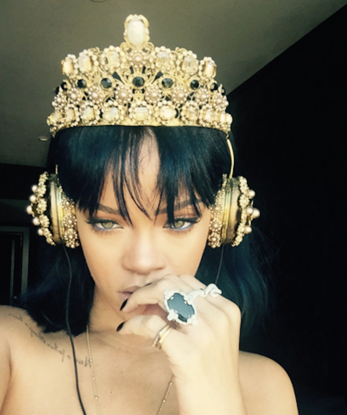 Rihanna's Dolce and Gabbana Headphones in Her New Twitter Photo Are Worth Nearly $9,000