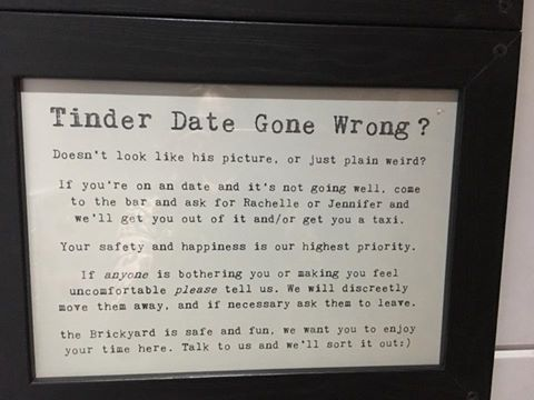 This Bar Came Up With a Cute Lil' Escape Plan for Women on Shitty Tinder Dates