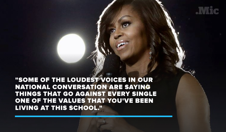 Michelle Obama Tells Native Americans to Take Pride in Their Values in High School Address