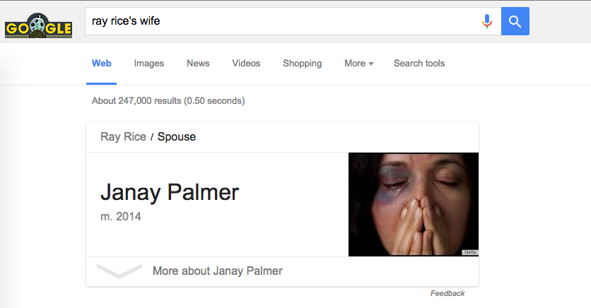 "Here's What Happens When You Google ""Ray Rice's Wife"""