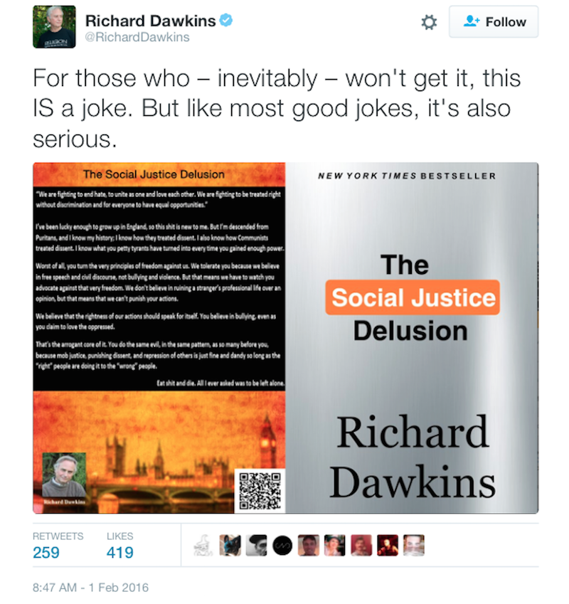"Richard Dawkins Made a Huge Mistake While Railing Against ""Social Justice"""