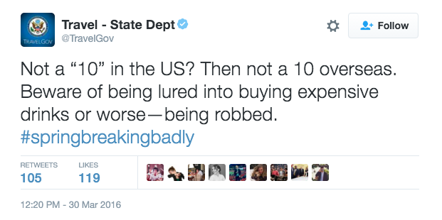 State Department Warns Ugly Americans on Spring Break Abroad to Beware Foxier Suitors