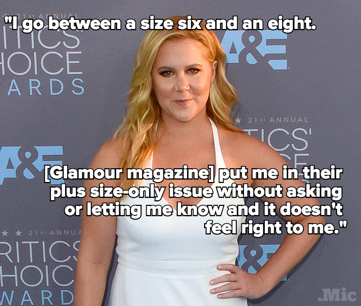 "Amy Schumer Is Not OK With 'Glamour' Magazine Calling Her ""Plus-Size"""