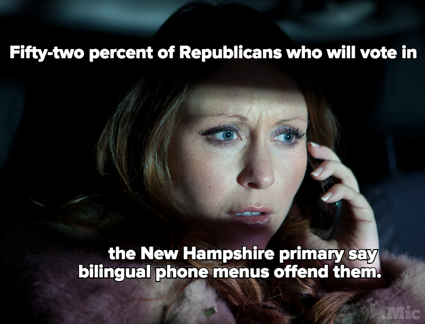 "Half of GOP Voters in New Hampshire Are Offended by Hearing ""Press 2 for Spanish"""