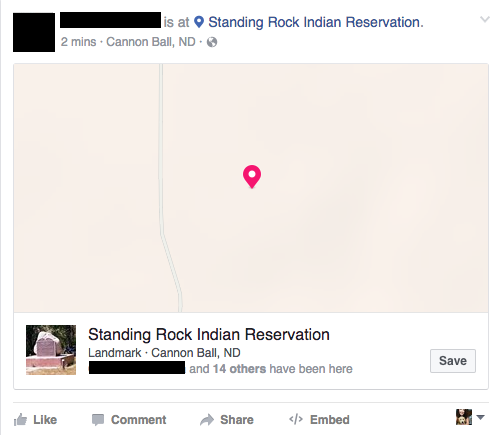 This is why your Facebook friends are checking in at Standing Rock Indian Reservation