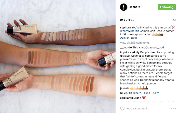 "Cosmetics Company BareMinerals Called Out for Making Darker Skin Tones an ""Afterthought"""