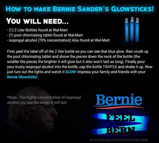 "This ""Bernie Sanders Glowsticks""  Meme Was Made by Someone Who Wants to Kill You"