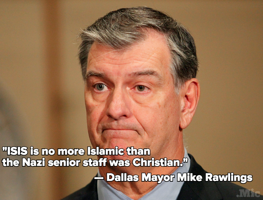Dallas Mayor Mike Rawlings Says He's More Afraid of White Terrorists Than Syrian Refugees