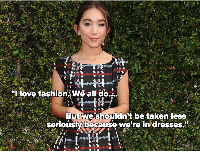 "Rowan Blanchard Gave the Best Answer to the Question ""Can Fashion Be Feminist?"""