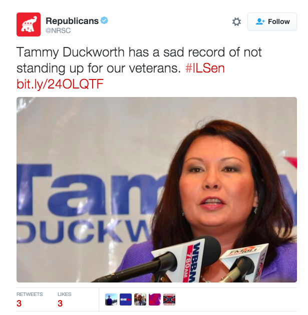 "Republican Committee Attacks Double Amputee Veteran for Not ""Standing Up"" for Vets"