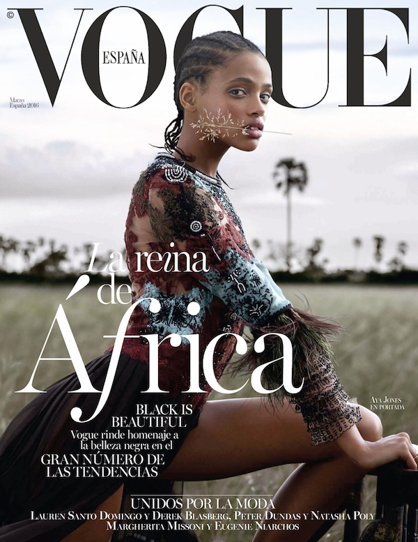 'Vogue Spain' March Cover Features Black Model With Cornrows, Declares Black Is Beautiful