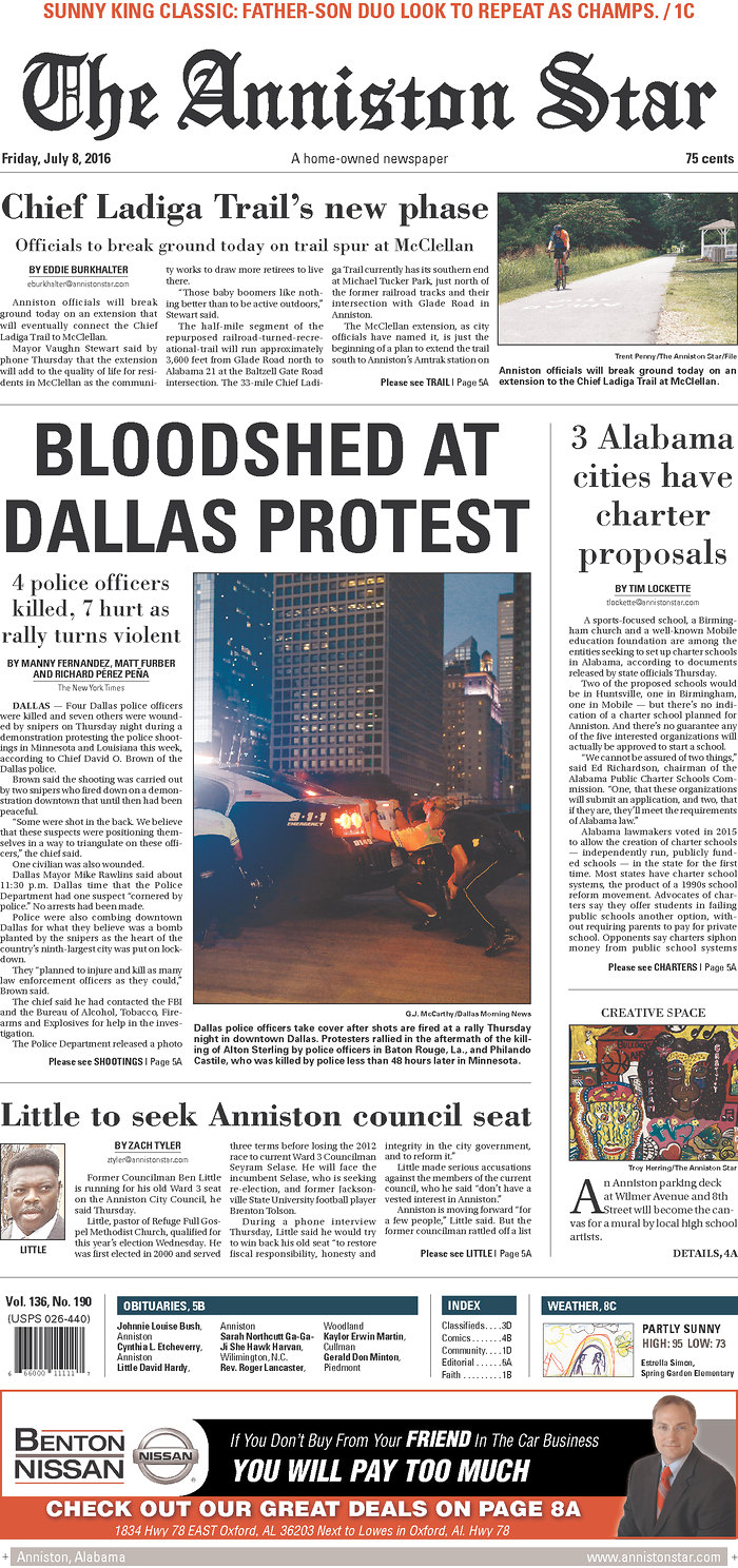 In Wake of the Dallas Shooting, We Can Look to the Nation's Front Pages — Or Beyond them