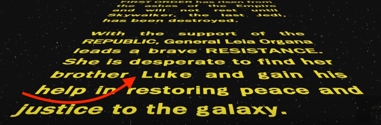 There's Either an Error in the New 'Star Wars' Crawl or a Big Surprise for Luke and Leia