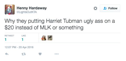 Harriet Tubman Will Be on the $20 Bill — And Racist and Sexist Trolls Reacted as Expected
