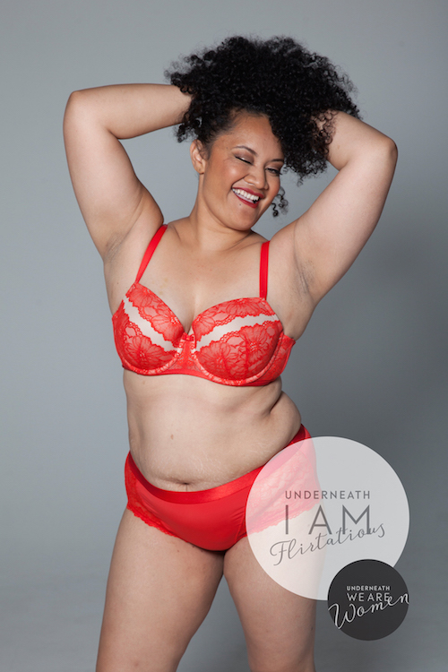 Dozens of women were photographed in their underwear for an inspiring new campaign
