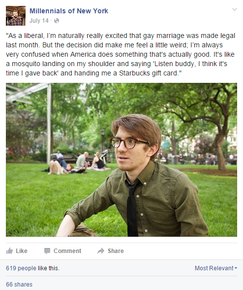 This Facebook Page Has Gone Viral by Skewering Millennial Stereotypes