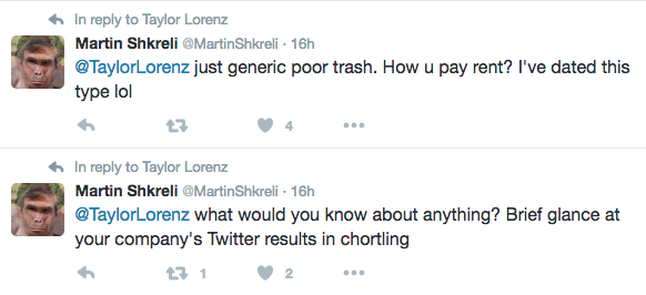 What it's like to be harassed by Martin Shkreli, the most hated man in America