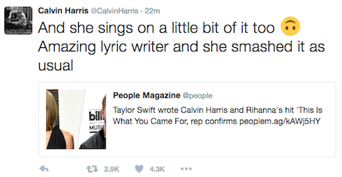 Calvin Harris Slams Taylor Swift for Tearing Down Her Exes in an Epic Twitter Storm