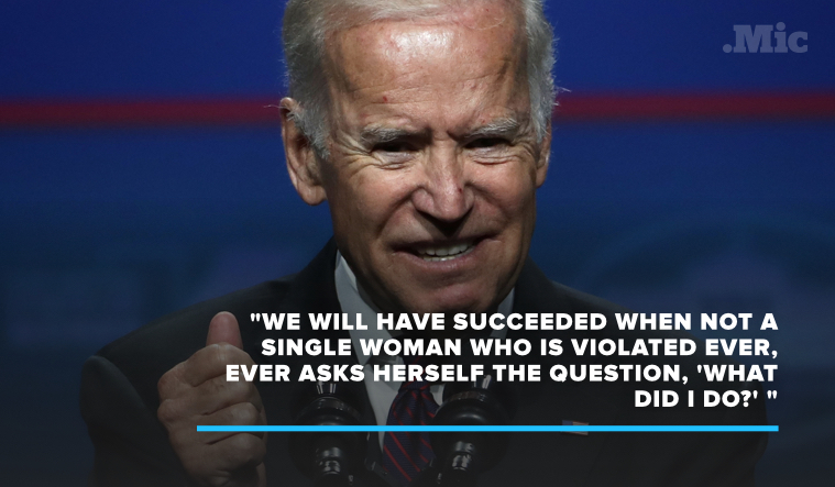 Joe Biden Just Made a Powerful Statement on the State of Sexual Assault in the US