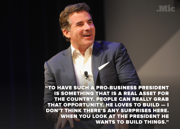 ... backlash after CEO gives high praise of Donald Trump in new interview