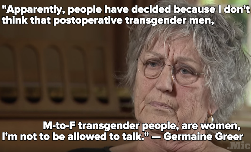 Old School Feminist Germaine Greer Stands By Remarks That Trans Women Are Not Real Women