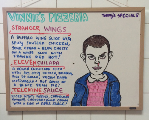Ken Bone gets his own punny menu at Vinnie's Pizzeria in Brooklyn, New York